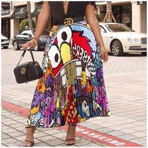 Dresses & Skirts - New! Elmo Sesame Street High Waist Pleated Skirt